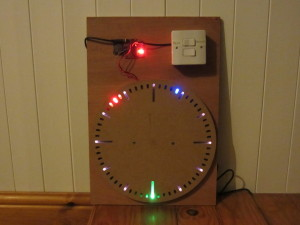 Rise and Shine LED ClockPrototype