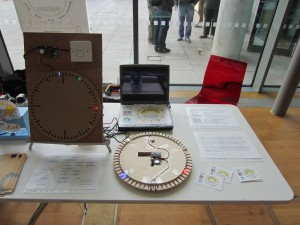 Rise and shine LED Clock stall at Oggcamp