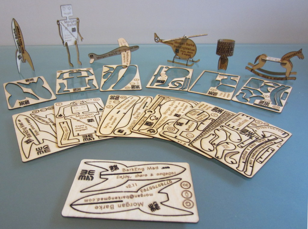 Laser Cut Business Card Models Collection