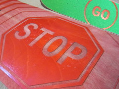 Stop n Go Deck and Grip Tape Thumb