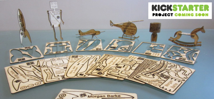 Laser Cut Business Card Models