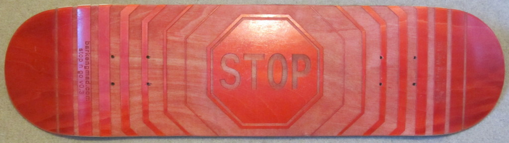 stop full skateboard deck CC-BY-SA