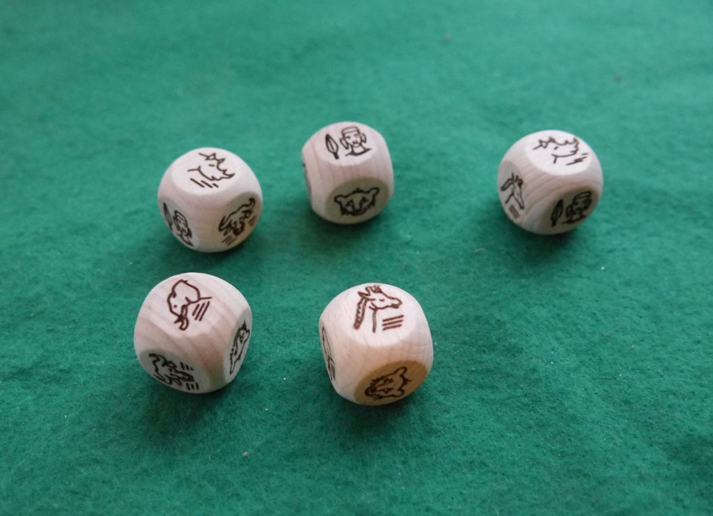 Laser Engraved Wooden Safari Dice Commission